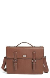 Ted Baker Men's London Bengal Leather Satchel Brown Tan