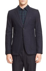 Rag And Bone Men's 'Woodall' Trim Fit Wool Blend Blazer Navy