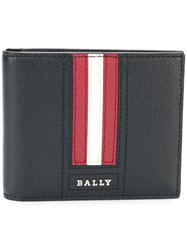 Bally Tarrish Stripe Detail Billfold Wallet Black