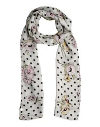 Scee By Twin Set Accessories Oblong Scarves Women Ivory