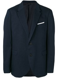 Neil Barrett Chest Pocket Blazer Men Cotton Polyester Viscose 50 Blue