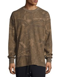 Yeezy Camouflage Print Thermal Long Sleeve Tee Medium Green