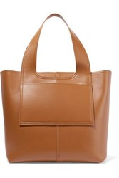 Victoria Beckham Apron Leather Tote Tan