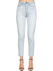 Saint Laurent Cotton Denim Carrot Jeans Light Denim