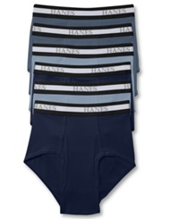 Hanes Platinum Men's Underwear Brief 6 Pack Blue Assorted
