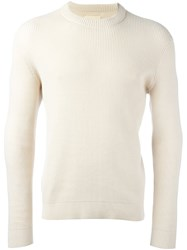 Folk Waffle Knit Jumper Nude And Neutrals