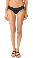 Vitamin A Emelia Triple Strap Bikini Bottoms Black