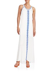Romeo And Juliet Couture Embroidered Maxi Dress Ivory