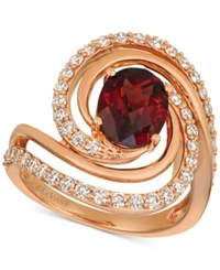 Le Vian Pomegranate Garnet 2 1 3 Ct. T.W. And Diamond 3 4 Ct. T.W. Ring In 14K Rose Gold Ruby