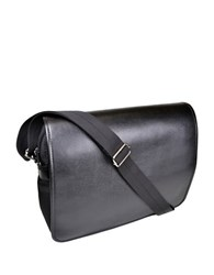 Royce Lightweight Luxury Laptop Messenger Bag Black