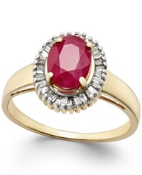 Macy's Ruby 1 3 4 Ct. T.W. And Diamond 1 3 Ct. T.W. Ring In 14K Gold Red