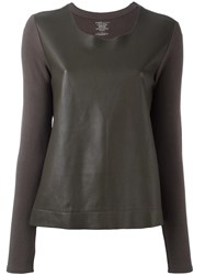 Majestic Filatures Leather Panel Top Green