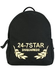 Dsquared2 24 7 Star Logo Backpack Black