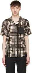 Coach 1941 Beige And Black Baseman Edition Plaid Shirt