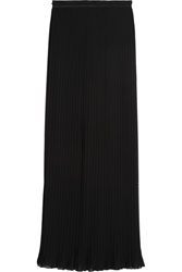 Alice Olivia Pleated Chiffon Maxi Skirt Black