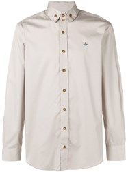Vivienne Westwood Classic Collared Shirt Nude And Neutrals