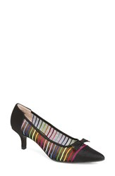 J. Renee Women's Brisa Pointy Toe Rainbow Stripe Pump