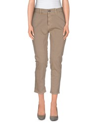 M.Grifoni Denim Trousers Casual Trousers Women Khaki