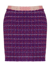 Meadham Kirchhoff Purple Check Boucle Lala Skirt
