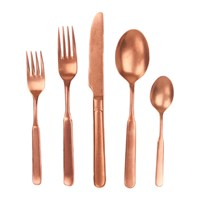 Canvas Home Lucca 5 Piece Cutlery Set Copper