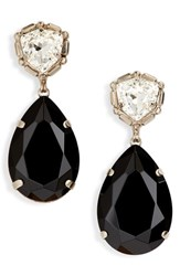 Sorrelli Pear Crystal Statement Earrings Black