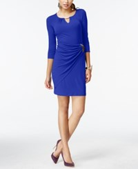 Thalia Sodi Faux Wrap Keyhole Dress Only At Macy's