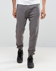 New Look Joggers With Zip Detail In Light Grey Light Grey