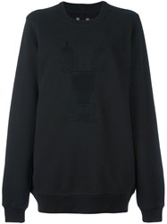 Rick Owens Drkshdw Embroidered Sweatshirt Black
