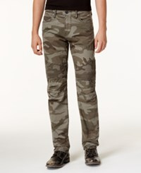 True Religion Men's Camo Print Moto Jeans