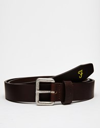 Farah Greco Leather Belt Brown