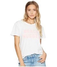 Amuse Society Sandy Cheeks Tee Casa Blanca Women's T Shirt White