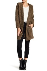 14Th And Union Nepped Knit Open Front Cardigan Gray