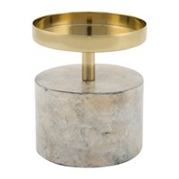 Amara Marwood Pillar Candle Holder Neutral