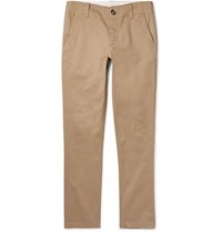 Sandro Tapered Cotton Twill Chinos Beige
