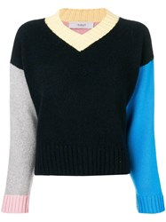 Pringle Of Scotland Colour Block Cashmere Sweater Blue