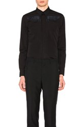 Givenchy Tonal Embroidered Wing Shirt In Black