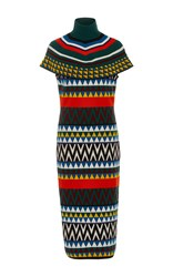 Stella Jean Parere Tube Midi Dress Print