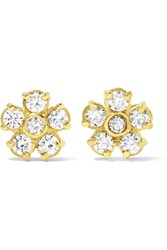 Jennifer Meyer 18 Karat Gold Diamond Earrings One Size
