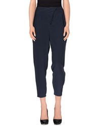 Tibi Trousers Casual Trousers Women Dark Blue