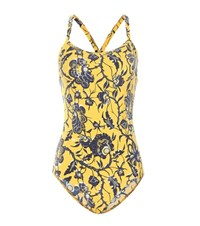 Etoile Isabel Marant Seeley Printed Swimsuit Yellow