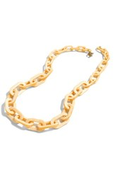 J.Crew Women's Oval Link Necklace Plaster White