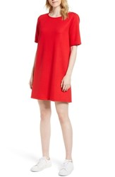 Gibson Pleat Back Minidress Solid Red