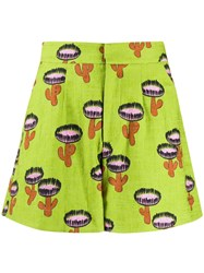 La Doublej Good Butt Cactus Print Shorts 60