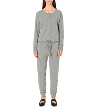 Allude Tapered Cashmere Jumpsuit Grey