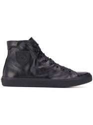 Saint Laurent Hi Top Trainers Black