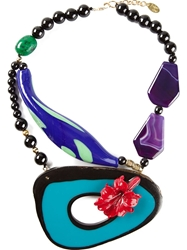 Katerina Psoma Blue Agate Necklace Black