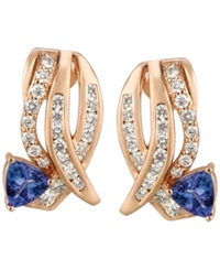 Le Vian Tanzanite 3 4 Ct. T.W. And Diamond 3 4 Ct. T.W. Earrings In 14K Rose Gold