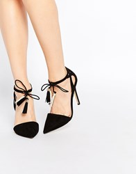 Lipsy Laura Tassel Heeled Shoes Black
