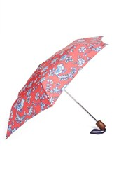 Joules Right As Rain Print Umbrella Red Red Sky Indienne