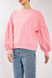Topshop Balloon Sleeve Sweat By Boutique Pink